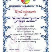 Imieniny Hrabiny 2014